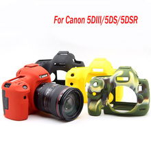 Nice Soft Silicone Rubber Camera Case For Canon EOS 5D3 5DS 5DSR 5DIII DSLR Camera Bag protector cover Protective Body
