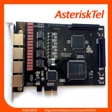 Asterisk card 4 Port ISDN PRI Card TE420 PCI-E with 4 E1/T1 ports,for voip telefone pabx ISDN telephony card te110p te220(China)