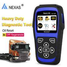 Car Truck Auto Diagnostic Tool 2 in 1 Nexas NL102P HD Heavy Duty Engine/Oil Light Service/DPF Reset Automotive Scanner