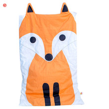 Home textile orange fox Summer comforter cartoon thin quilt patchwork white and black cat blanket air conditioning for children
