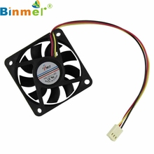 CPU Cooling Fan 60mm PC 12v 3 Pin Computer Case Cooler Quiet Molex Connector Easy Installed  Drop Shopping