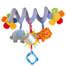 new hot Spiral activity toy multi-function music elephant lion bed baby hanging plush toys baby rattles mobiles gift(China)