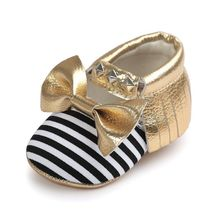 Baby Boy Girl Moccasins Soft Moccs Shoes Bebe Fringe Soft Soled Non-slip Footwear Crib Shoes New PU rivet Leather Newborn(China)