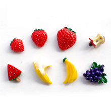 Lovely Fruit Fridge Magnet Souvenior Banana Refrigerator Magnets Magnetic Sticker Cartoon Decals Notes Message Holder Sticker