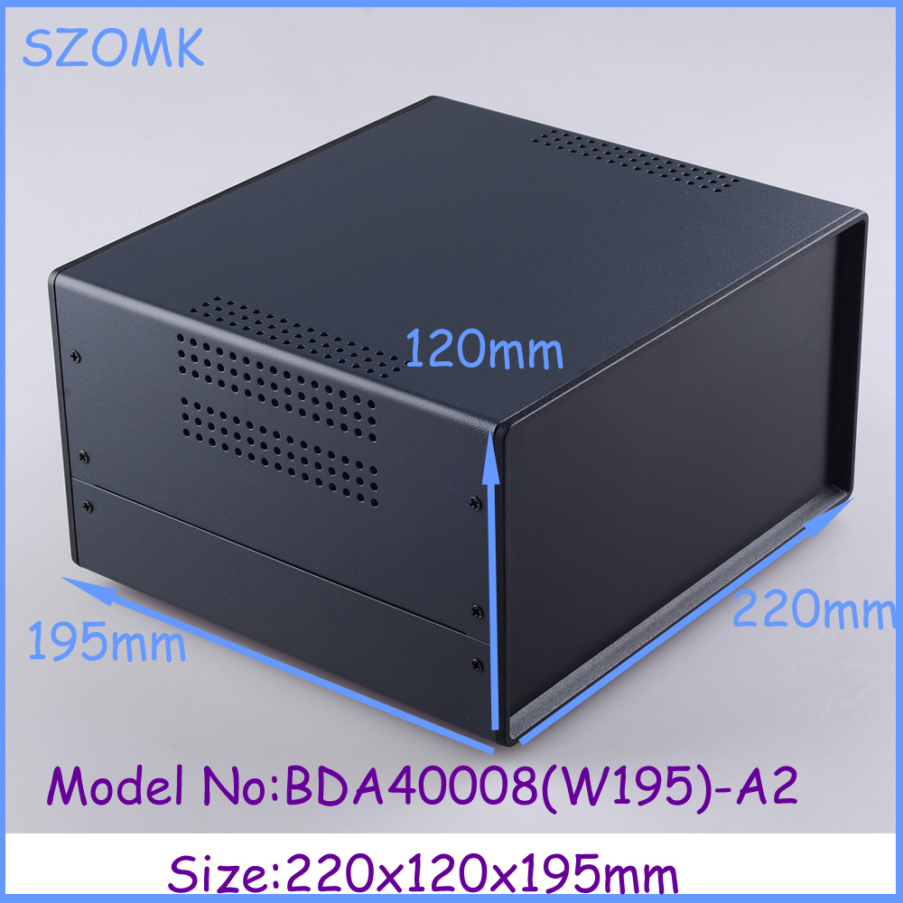 (1  )220x120x195 mm 2014 new electronics metal enclosure box for electronics and pcb instrument box industrial enclosures<br>