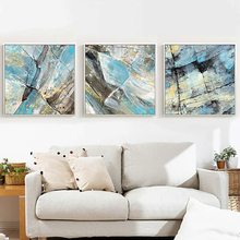 HAOCHU Colorful Clear Crystal Canvas Painting Beautiful Stone Landscape Artwork Wall Poster Unique Decorative Picture for Home