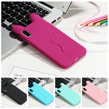 "Fashion 3D Cartoon Cat Silicone Case for iPhone X 8 10 Ten 4 4S 5 5S SE 6 6S Plus 7 7 Plus 5.5"" Cover Fundas 12 Colors In Stock"