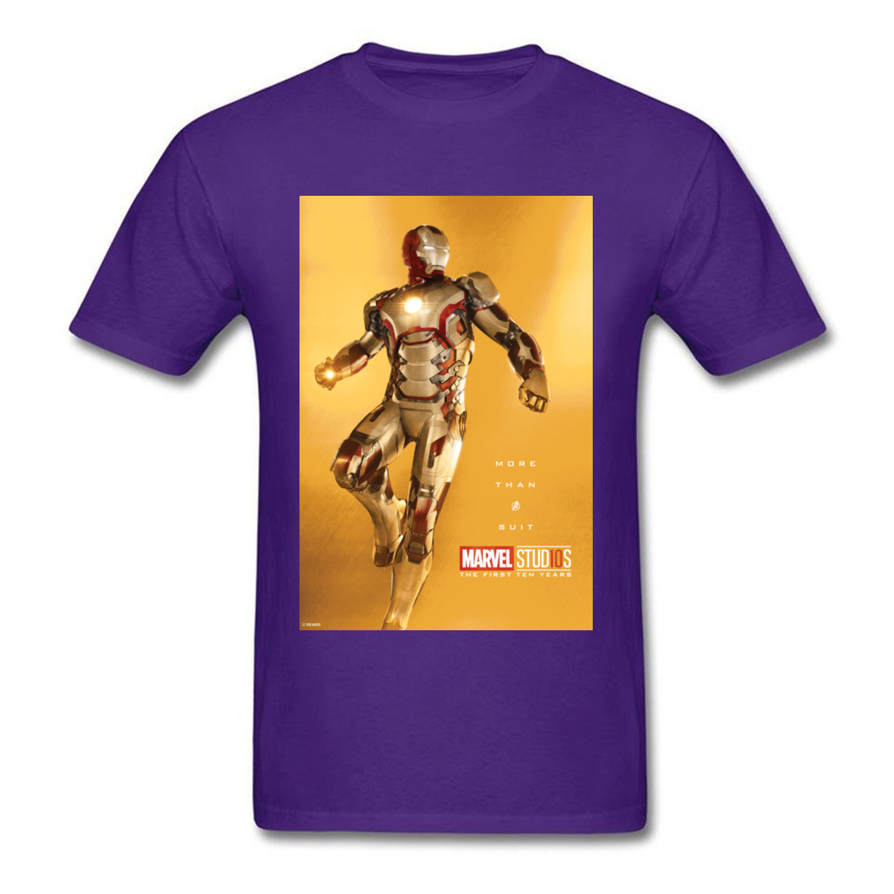 Tops Tees Marvel More Than A Suit Thanksgiving Day Short Sleeve Pure Cotton Round Neck Men Top T-shirts Casual Tshirts Prevalent More Than A Suit purple