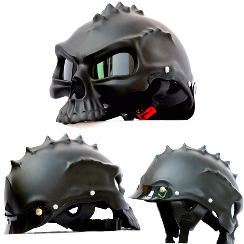 New 2017 Tactical Cool Skull Helmet Paintball Airsoft CS Tatico Motorcycle Helmet half Helmet Protective Equipment Free Shipping<br><br>Aliexpress