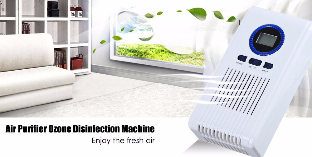 Portable Air Purifier Ozone Generator Ozonator Baby Care LED Timing Function Multifunctional Sterilizer for Home Bedroom EU Plug