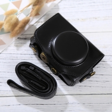 Buy Full Body PU Leather Digital Camera Bag Case Canon PowerShot SX730 HS / SX720 HS Digital Camera Cover Cases Strap for $9.86 in AliExpress store