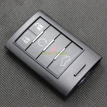 LinHui for CADILLAC ATS SRX STS CTS DTS Key Case 5 Buttons Uncut Blank Cooper Blade Remote Key ABS Shell 1PC With Logo