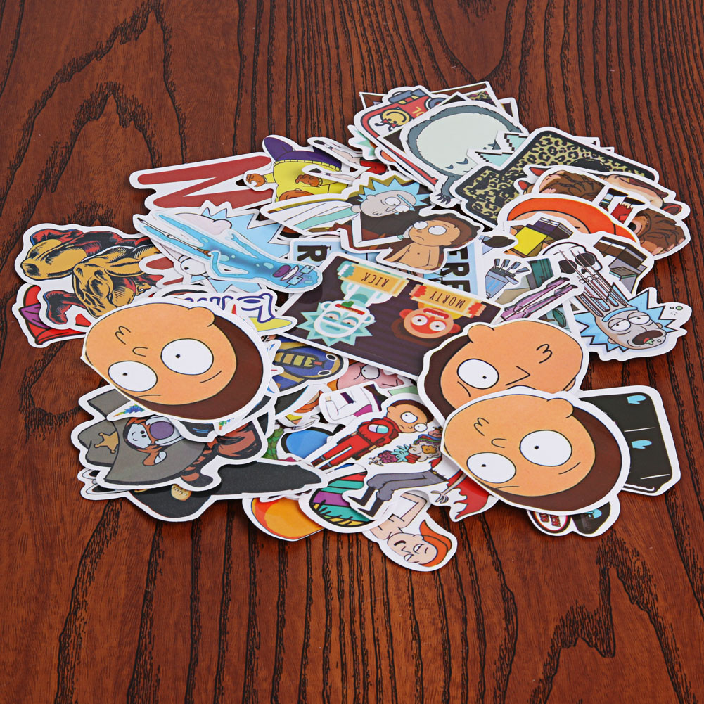 60 pcs Funny Car Sticker on Suitcase Home Phone Laptop DIY Vinyl Decal Stickers Bomb Car styling Motorbike Accessories
