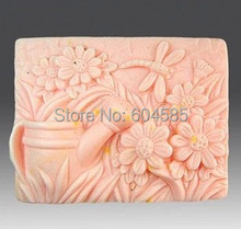 Beauty Rural plants 0838 Craft Art Silicone Soap mold Craft Molds DIY Handmade soap molds(China)