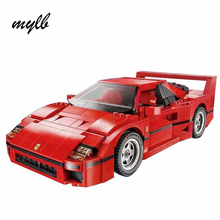 mylb Ferrarie F40 Sports Car Model Building Blocks Kits Bricks Toys Compatible with DIY(China)