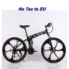 Buy 26inch folding mountain bike double disc brakes bicycle 21 speed folding bicycle 6 knife wheel 3 knife wheel mountain bike for $390.24 in AliExpress store