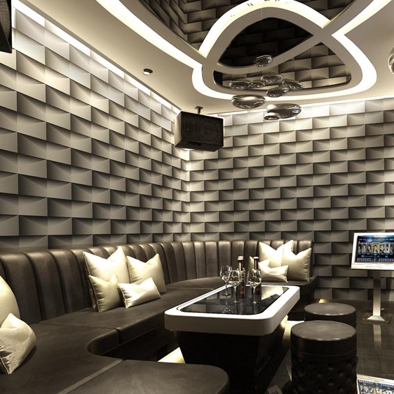 KTV Bar Clubs 3D Embossed Wallpaper Modern Fashion Flashlight Vinyl Wall Paper For Walls PVC Waterproof Backdrop Wall Papers 3 D<br>