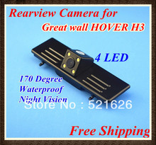 High quality! Waterproof Special 4 LED CCD Car Rear view camera for Great wall HOVER H3