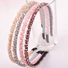 1 PC 2018 NEW Women Crystal Metal Hairband Lady Girls Bling Headband Jewelry Hair Accessories(China)