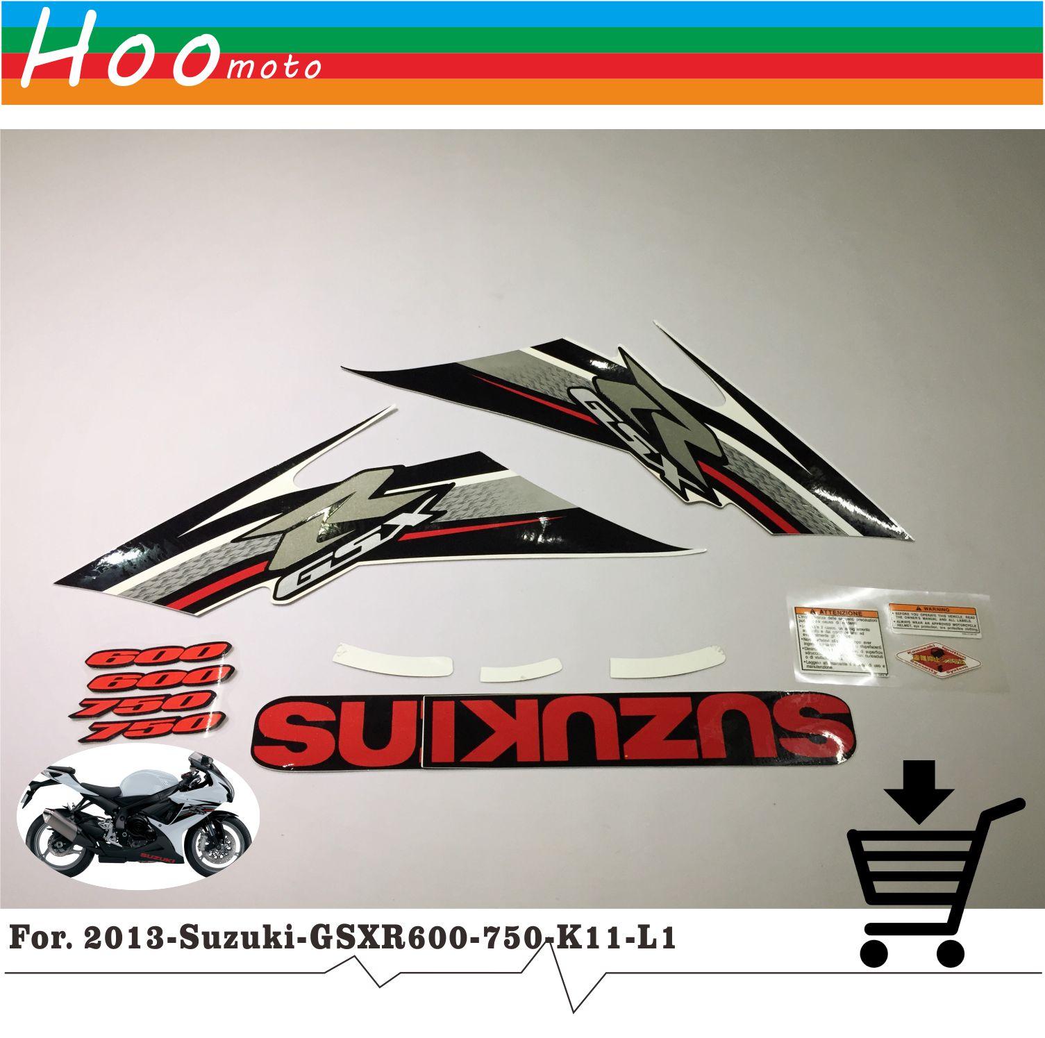 2013 GSXR GSX R 600 750 K11 L1  High Quality Decals Sticker Motorcycle Car-styling Stickers for Suzuki Decals Sticker MOTO<br>
