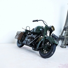 Tinplate Vintage Motorcycle Collection Ironwork Showcase Craftwork Handmade Motor Bicycle Model Gift For Boy