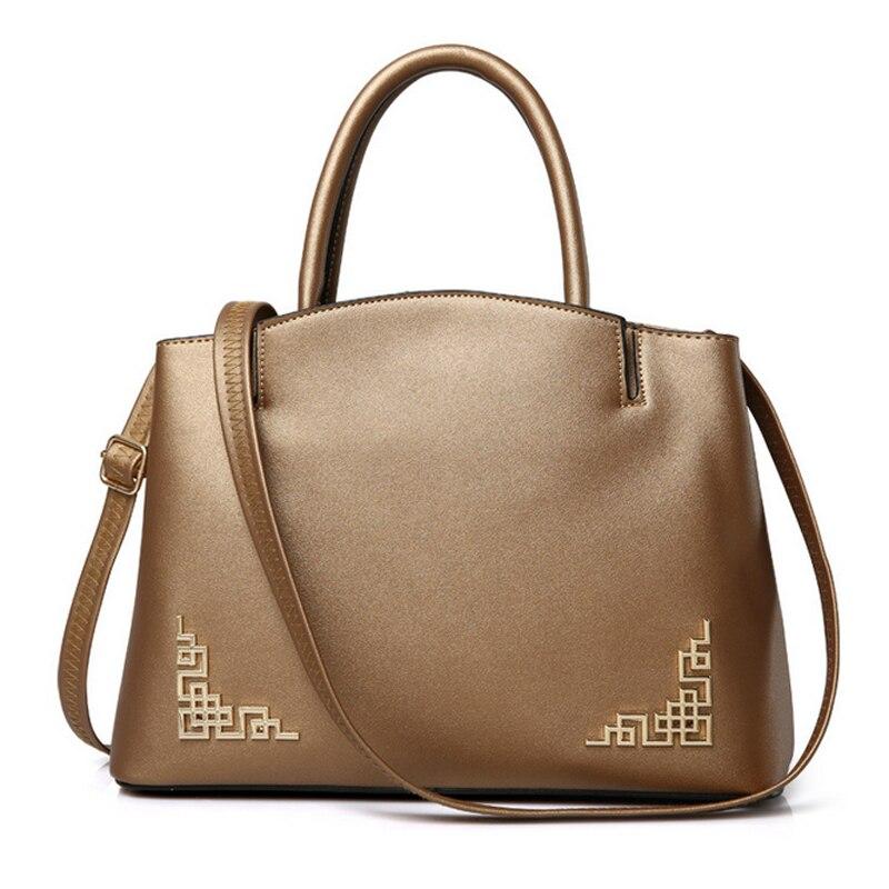 2017 New High Quality Pu Leather Womens Handbags Crossbody Bag Women Handbags Solid Chinese Style Tote Bags Bolsa Feminina <br>