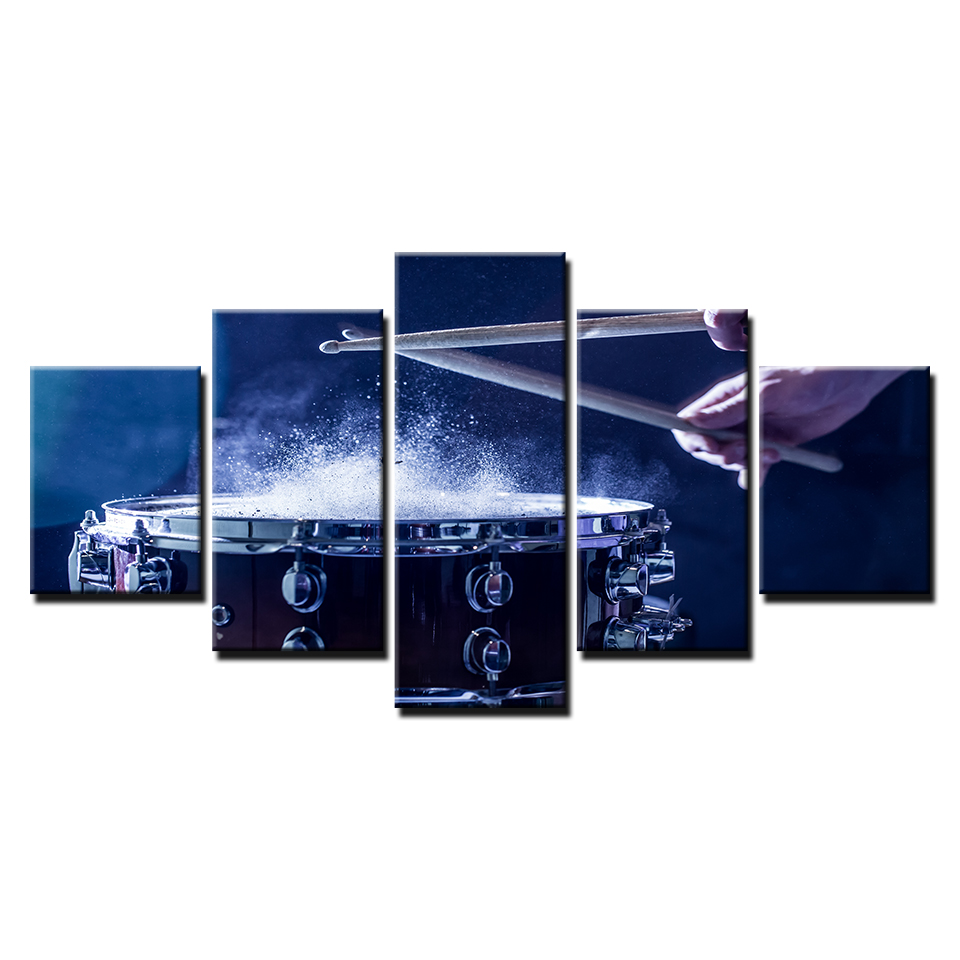 Wall-Art-Canvas-Paintings-Modular-Home-Decor-HD-Prints-5-Pieces-Drums-Pictures-Musical-Instruments-Posters (4)