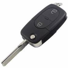 2BTN Flip Folding Remote Key Shell Cover fit for Audi A2 A3 A4 A6 A8 TT Uncut Fob Case 2 Buttons