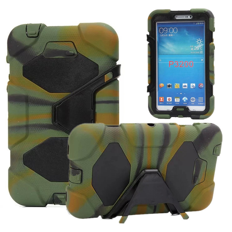 Hybrid Back Cover Heavy Duty Shockproof Armor Case Stand Cover for Samsung Galaxy Tab 3 7.0 P3200 P3210 SM-T210 T211 Tablet Case<br><br>Aliexpress