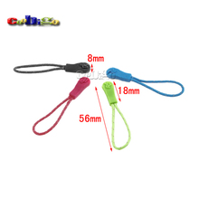 100pcs Pack 56*8mm Colorful Zipper Pull Cord Strap Fastener Backpack Gym Suit Garment Accessories #FLC309(Mix-s)