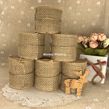 Buy Natural Burlap Ribbon 2 Meters 5cm 6cm Jute Roll Cake Topper Decoration Birthday Party Christmas Supplies Vintage Wedding Decor for $1.23 in AliExpress store