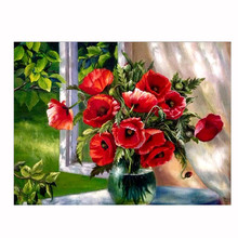 5D Rose diamond embroidery DIY Craft Diamond Painting Cross Stitch Square u61214 DROP SHIP