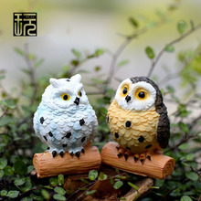 Artificial Animal Owl Figurines Fairy Garden Miniatures DIY Terrarium Landscape Decoration Desktop Accessories