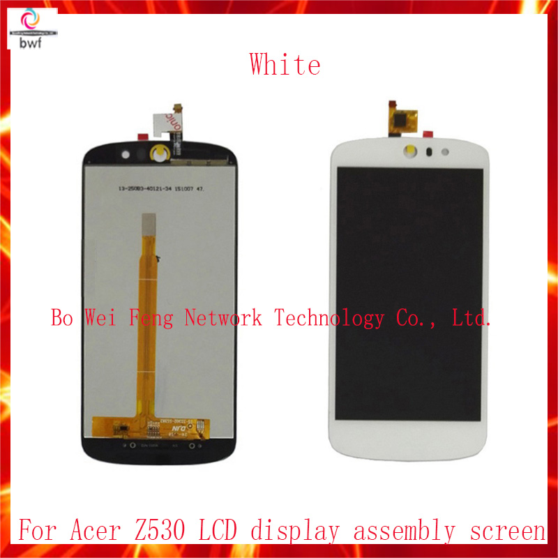 50Pcs DHL High Quality 5.0 Full LCD DIsplay+Touch Screen Digitizer Assembly For Acer Liquid Z530 LTE T02+Tools Free Shipping<br><br>Aliexpress