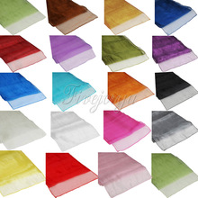19 Colors Soft Sheer Fabric Organza Table Runner 30x275cm Chair Bows Swag Wedding Event Xmas Party Banquet Table Decor(China)