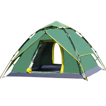 GAZELLE large camping tent 3-4 person Tents Hydraulic automatic Waterproof Outdoor Hiking tent camping Picnic tents tabernacle