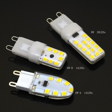 1Silicone Lampada Led 6w 8w AC 220V Dimmable 2835 SMD G9 Corn Light Lamp Spotlight Replace Halogen bulb - Shop339632 Store store