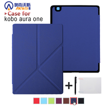 Standing cover case for  Kobo Aura One 7.8 inch ebook reader magnetic auto wake sleep + Screen Protector + Stylus pen as gifts