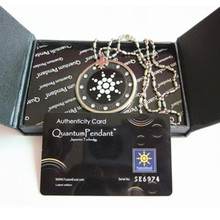 Acrylic Quantum Energy Pendants Scalar Negative Ions Charms With Nano Card into A Retail Box Wholesales Price DHL Free