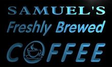x0060-tm Samuel's Freshly Brewed Coffee Custom Personalized Name Neon Sign Wholesale Dropshipping On/Off Switch 7 Colors DHL(China)