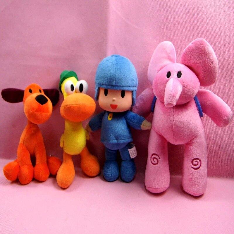 Newest 4pcs/lot pocoyo stuffed toys Kids Birthday Brinquedos Gift pelucia  Pocoyo Elly Pato POCOYO Loula Toys party decorations<br><br>Aliexpress