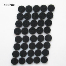Black 100 Pair 25mm Diameter Nylon Fabric Sticky Back Round Coins Hook and Loop Self Adhesive Fastener Dots Tapes hook loop tape(China)