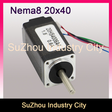 NEMA 8 CNC Stepper motor 20x40 4mm shaft nema 8 2.6N.cm 0.6A cnc stepping motor   for CNC engraving milling machine 3D printer