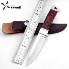 KKWOLF K90 fixed blade hunting knife Ebony handle tactical pocke knife outdoor camping survival fishing Diving knives EDC tool