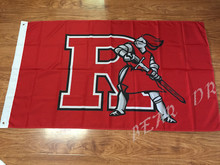 free shipping Rutgers Scarlet Knights flag 3ftx5ft Banner 100D Polyester Flag 2 metal Grommets custom flag(China)
