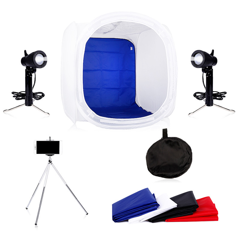 Photo Studio Soft box Kit 40 x 40CM, 50 x 50CM,60 x 60CM+Photography Tabletop Led Lighting ,Light Tents Lightbox Kit With Gift  <br>