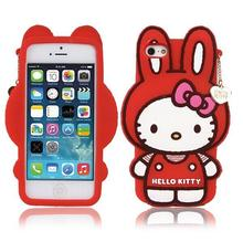 Cartoon Hello Kitty Case For iPhone 5 Case Luxury Silicone Capinha Cute Rabbit Coque For Capa Para iPhone 5s 5G SE Cover cases