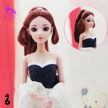 Rosana High Quality Doll Head with 3D True Eye Princess Styling Head for Barbie Doll Body Accessories for Barbie Birthday Gift