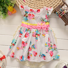 BibiCola Childern summer cotton dress 2018 clothes baby girls colorful flower  outfits dress kids girls party e26566efa659