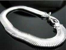 KUNIU New Wholesale Fashion Jewelry Silver Plated Bracelet Snake Bone Bangle Free Shipping
